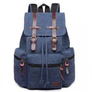 plecak damski z materiału niebieski