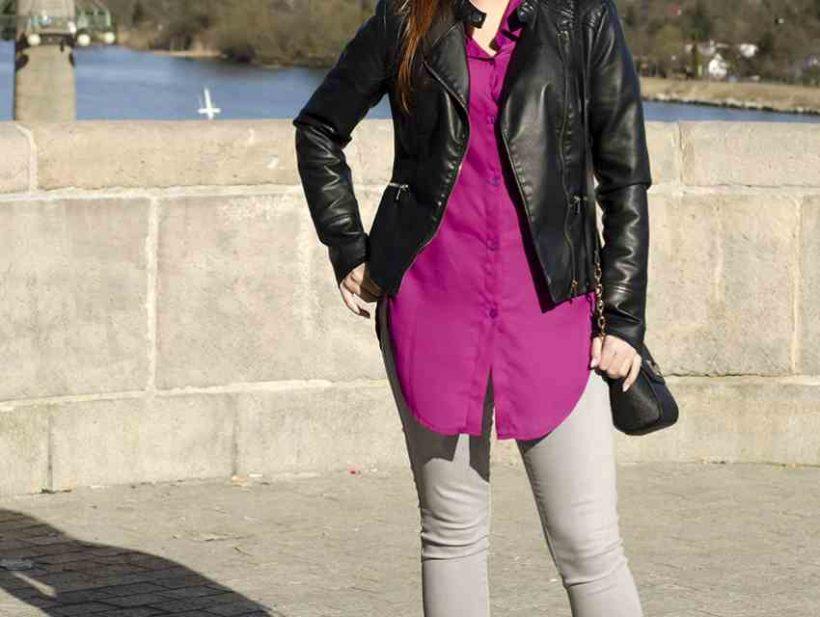 Fioletowa koszula i buty